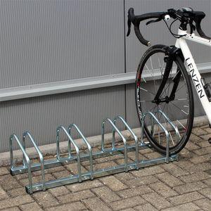 Fahrradständer Radständer 4 Fahrräder 95x33x27cm Metall verzinkt Fahrrad
