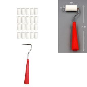Schaumstoffrollbürsten Set 20x Abdeckungen Glatt Und Flach Für Kleine Flächen
