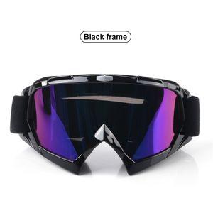 DH Motocross Brille Rennbrille Brille Universal TPU Schwarzer Rahmen Helle Farbe Stra?e Schmutz Wind