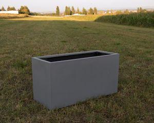 Pflanztrog, Blumentrog Fiberglas 108x40x50cm grau