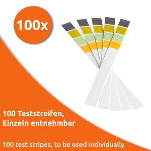 ECENCE pH Teststreifen 100 Stck., Lackmus Testpapier, Messbereich 0-14, Indikator Universalpapier, S