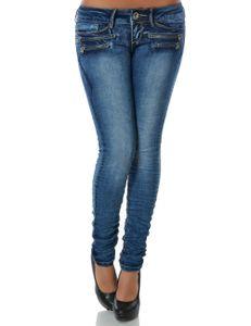 Damen Jeans Hose Skinny Röhre Stretch Denim DA 14089 Farbe Blau Größe S / 36