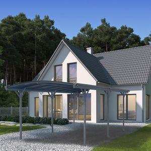 HOME DELUXE - Design Carport FALO (Dunkelgrau) Unterstand Autoüberdachung Garage