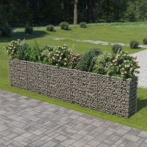 Gabionen-Hochbeet Garten-Hochbeet Hochbeet Verzinkter Stahl 450×50×100 cm