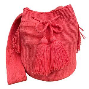 Kolumbien Wayuu Baumwolle String Knitting Hobo Geldbörsen und Handtaschen für Damen Satchel Handtasche Damen Geldbörsen Große Tägliche Umhängetaschen Farbe 47 #