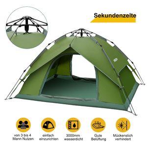 Wurfzelt Zelte 3-4 Mann mit Moskitonetz Wasserdicht Gruppenzelt Outdoor Campingzelt leicht zu Pop up Zelt für Trekking Outdoor Festival