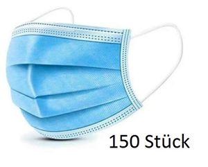 150x Einweg Mundschutz Atemschutz Gesicht OP Maske Hygienemaske 3-Lagig