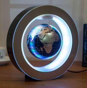 Magnetische Levitation Floating Globe O-Form LED-Weltkarte Home Decor Educational