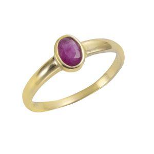 F Ring 375/- Gold gelb 054 (17,2) Rubin rot 283370166-2