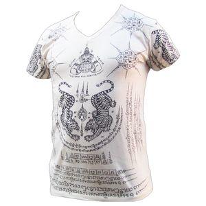 PANASIAM T-Shirt Garuda Tiger, Farbe/Design:weiß, Größe:XL