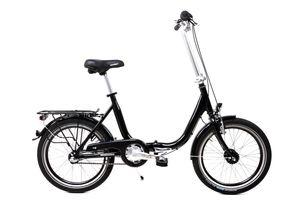 20 Zoll Alu Klapp Fahrrad Faltrad Folding Bike Shimano 3 Gang Nabendynamo schwarz RH 41cm