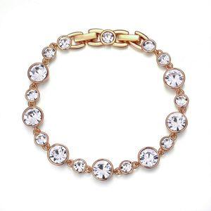 CYE Klassisches Tennis-Armband [18cm / 7inch] sterreichisches Kristallarmband, 18 Karat Rosvergoldetes Armband fr Valentinstaggeschenke zum Muttertag