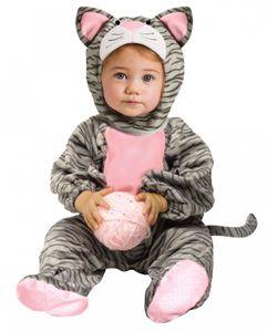 Kuschelweiches Kätzchen Babykostüm für Fasching & Karneval Baby Größe: S
