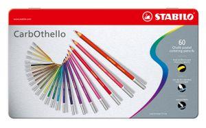 Pastellkreidestift - STABILO CarbOthello - 60er Metalletui - mit 60 verschiedenen Farben