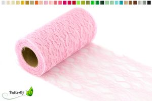 10m Spitzenband 15cm, Farbauswahl:rosa 148