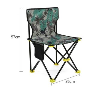 Tragbarer Klappcamping im Freien Wandern Angeln Picknick BBQ Hocker Stuhl WKE200415732C
