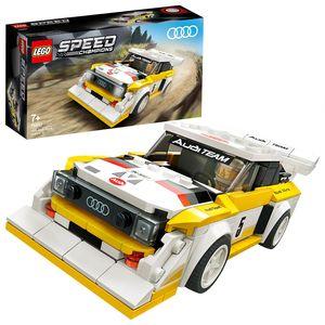 LEGO 76897 Speed Champions 1985 Audi Sport quattro S1, Spielzeugauto für Mädchen und Jungen ab 7 Jahre, Bausatz für Modellauto, Rennauto