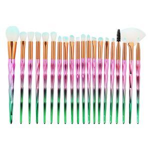 20-teiliges Make-up-Pinsel-Set Größe Diamant Pink Grün