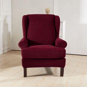 Sitzer Sofahusse Stretch Sofabezug Armlehnenschoner Sesselschoner Sesselbezug Rot