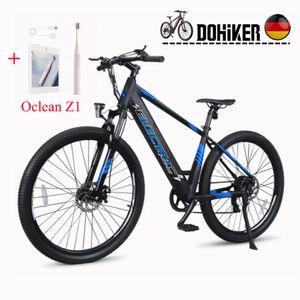 2021 Elektrofahrrad Fahrrad 27.5 Zoll Reifen Moped Smart Elektrische Fahrrad 250W Motor e-bike 10.4Ah Batterie Max 25 km/h , Max ca.65 KM,Belastung 120kg,Puffer Elektrische Fahrrad