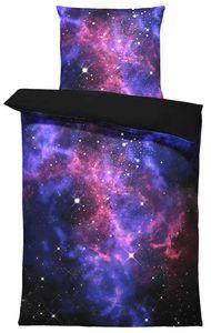 Weltall Bettwäsche 135x200 cm Weltraum Galaxy Sterne Universum Microfaser