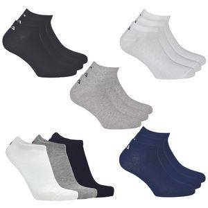 Fila Unisex Socken 3-er Pack Füßlinge kurz Sneaker weiß, Größe:35-38 EU