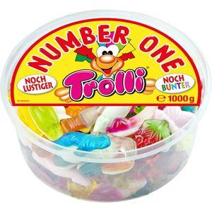 Trolli Number One bunter lustiger Fruchtgummi Schaumzucker Mix 1000g