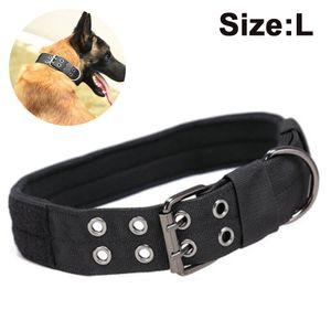 GepolstertesHalsband mit Dornschnalle, 25 mm breit, für kleine und große Hunde geeignetes Hundehalsband(L, 43-53cm)