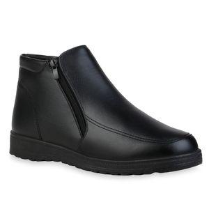 Mytrendshoe Herren Stiefel Winter Boots Warm Gefütterte Bequeme Schuhe 835655, Farbe: Schwarz, Größe: 42