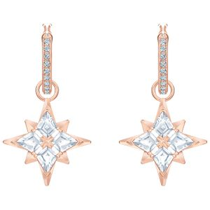 Swarovski Ohrringe 5494337/5515984 Symbolic Star, weiss, Rosé vergoldet