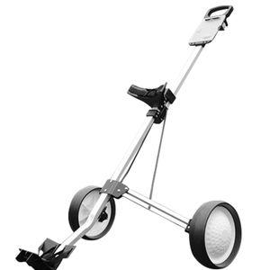 CAMTOA Faltbarer Edelstahl Pro Golftrolley 2 Räder Golfwagen Mit Bremse Golfzubehör