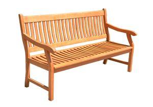3-Sitzer Bank NEW JERSEY Gartenbank Eukalyptus geölt 158cm Sitzbank Parkbank Holz Gartenmöbel