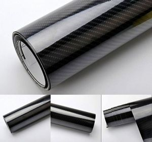 Autofolie 4D hochglanz Carbon Folie - 4D Carbon hochglanz - 100 x 152 cm Meterware blasenfrei mit Luftkanälen , Car Wrapping Folie