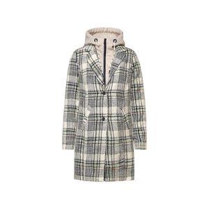 Cecil Mantel Damen Check Coat w. Sweat Inser Größe M, Farbe: 32297 neon cantaloupe ora