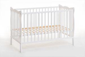 ALA II Babybett 60 x 120 cm weiße Matte