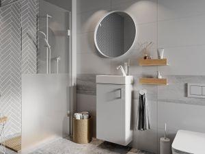 Mirjan24 Waschbeckenschrank Oia mit Waschbecken, Badezimmer Kollektion, Klassisch (Farbe: Weiß)
