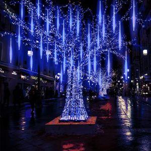 288 LED Meteorschauer Lichterkette Wasserdicht Weihnachten Meteor Eiszapfen Lichter, Blau