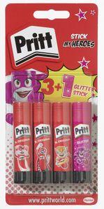 Pritt Klebestifte 3 Stück + 1 Glitter-Stick