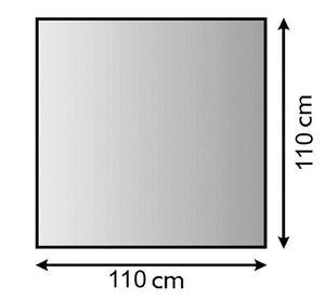 Funkenschutzplatte Metall Lienbacher anthrazit 4-Eck 110x110cm