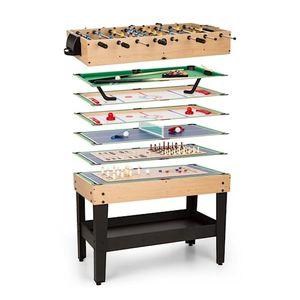 OneConcept Game-Star - Spieletisch für 37 schnell austauschbare Spiele, höhenverstellbar, Maße: ca. 105 x 71 x 58 cm (BxHxT), inkl. Spielzubehör und 17-in-1 Reisespielsatz