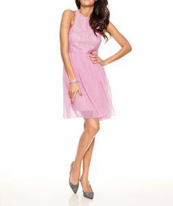 Ashley Brooke Event Damen Designer-Spitzen-Chiffonkleid, rosé, Größe:40
