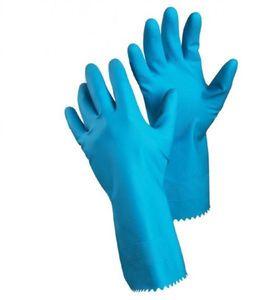 TEGERA 8140 Gummihandschuhe Spülhandschuhe blau Haushaltshandschuhe Latexhandschuhe, Menge:12 Paar, Größe:XL/10