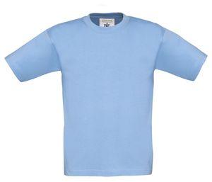 T-Shirt 5er Pack Kinder T-Shirt Exact 190 von B&C  Kids Jungen Mdchen Shirt  , Farbe:Sky Blue, Größen:5/6 (110/116)