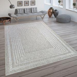 In- & Outdoor-Teppich, Flachgewebe Mit Skandi-Muster Und Sisal-Look In Cream, Grösse:120x170 cm