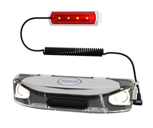 SLED Schlitten Beleuchtung Set Style Mobiles Rodellichtsystem zum Nachtrodeln