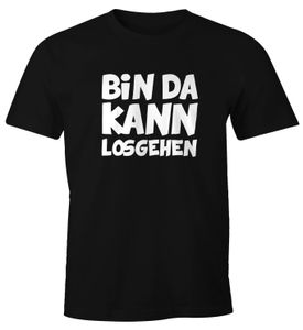 Herren T-Shirt mit Spruch Bin da kann losgehen Fun-Shirt Moonworks®  XL