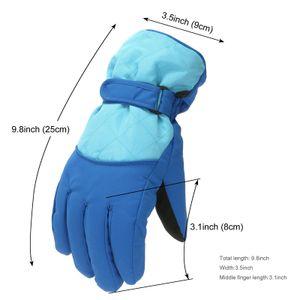 Kinder Winterhandschuhe Schnee Winddichte Fäustlinge Outdoor Sport Skifahren Alter 6-11 Jahre ZXY201029826 Größe:Einheitsgröße,Farbe:Blau