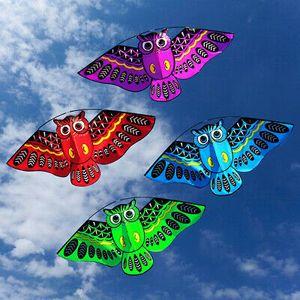 2 Stk Owl Flugdrachen 145CM Kinderdrachen Drachen Eule Drache mit 100m Schnur Kite