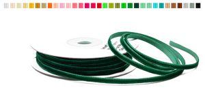 SAMTBAND 3mm, 10 Meter, Farbauswahl:dunkel grün 593