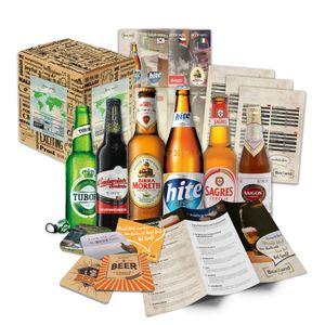 BOXILAND - Bier-Geschenk-Set mit verschiedenen internationalen Bier-Sorten (6x0,33l) Bier-Weltreise